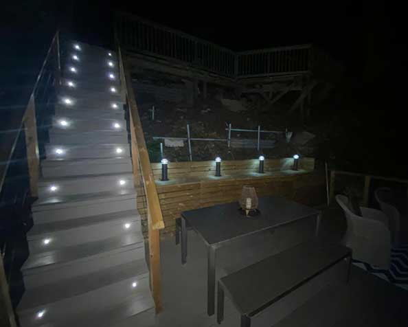 External lighting installation Dorset